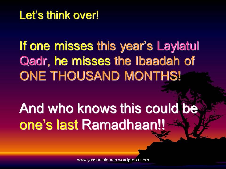 Laylatul Qadr and LAST TEN NIGHTS of Ramadhaan    -  Islamic ...