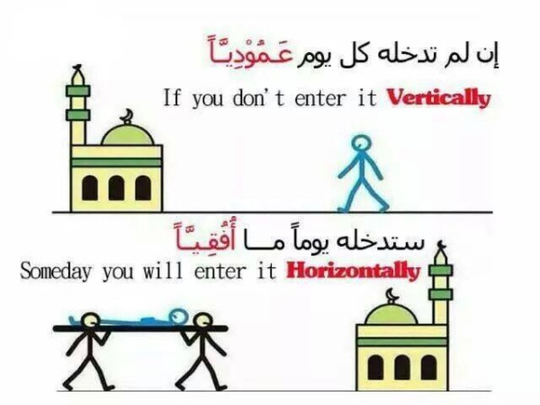entering masjid